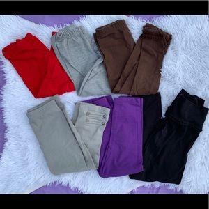 Set of 6 leggings size 3T